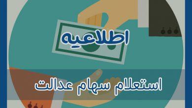 Photo of استعلام سهام عدالت / 15 اردیبهشت 1400